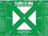 Flames Of War Artillery Template Paizo Com Flames Of War Green Double Width Artillery