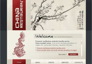 Flash Menu Templates Chinese Restaurant Flash Template 20096
