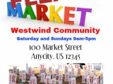 Flea Market Flyer Template Postermywall Poster Template