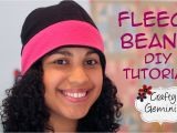 Fleece Hat Template Fleece Beanie Hat Diy Tutorial Youtube