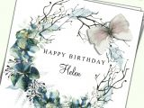 Flower Card for New Baby Alice In Wonderland Birthday Card Daughter Sister