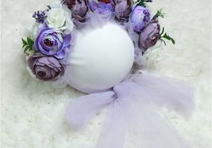 Flower Card for New Baby Floral Baby Bonnet Newborn Flower Bonnet Baby Flower Hat Newborn Photo Props