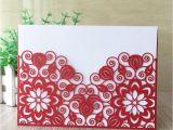 Flower Card for New Baby Groa Handel Exquisit Rote Hohle Spitzeblume Laser Schnitt Perlenpapier Einhullen Hochzeits Einladungsgeburtstagsfeiervatertageskarte Multi Farbe Freies