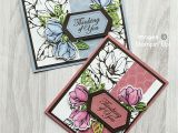 Flower Card Thinking Of You Good Morning Magnolia with Stampin Blends Magnolia Stamps