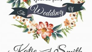 Flower Card Vector Free Download Watercolor Floral Wedding Invitation Card Vector for Free