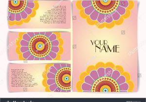 Flower Decoration Visiting Card Design Business Card Vintage Decorative Elements Hand Stock Image