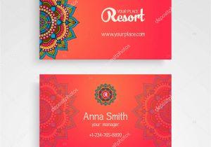 Flower Decoration Visiting Card Design Business Card Vintage Decorative Elements ornamental
