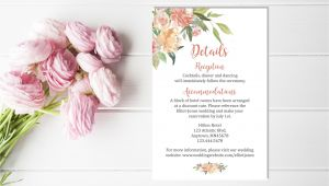 Flower Decoration Visiting Card Design Pin by Elegant On Coral Wedding Details Card Wedding