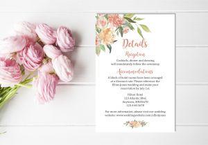 Flower Decoration Visiting Card Design Pin by Elegant On Coral Wedding Details Card Wedding