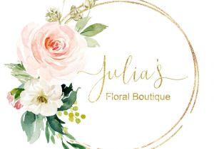 Flower Decoration Visiting Card Design Premade Logo Design Photo Watermark Logo Floral Logo