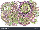 Flower Decoration Visiting Card Design Watercolor Vintage Floral Illustration Detailed Hand