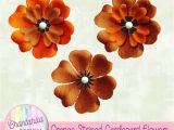 Flower Embellishments for Card Making Free Flower Embellishments In An orange Striped Cardboard