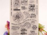 Flower Rubber Stamps Card Making Welcome to Joyful Home 1pc Big Flower Rubber Clear Stamp for Card Making Decoration and Scrapbooking