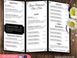 Folded Menu Template Design Templates Menu Templates Wedding Menu Food