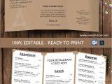 Folded Menu Template Design Templates Tri Fold Take Out Menu Menu Templates
