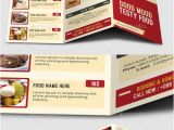 Folded Menu Template Graphicriver Tri Fold Restaurant Foods Menu