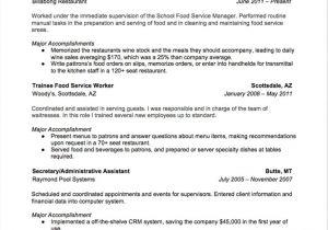Food Basic Resume 7 Food and Beverage attendant Resume Samples