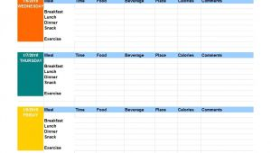 Food Logs Templates 40 Simple Food Diary Templates Food Log Examples