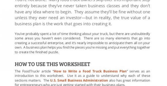 Food Truck Business Proposal Template 11 Sample Food Truck Business Plans Pdf Word Pages