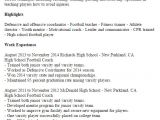 Football Cv Templates Free 1 High School Football Coach Resume Templates Try them