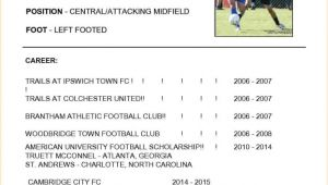 Football Cv Templates Free Cv Football Cv Template