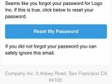 Forgot Username Email Template Responsive forgot Password Reset Email Template