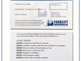 Forklift Certification Wallet Card Template Free forklift Certification Card Gallery Certificate Design