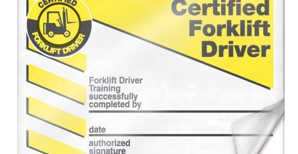 Forklift Certification Wallet Card Template Free forklift Certification Cards Lkc230