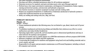 Forklift Mechanic Resume Sample forklift Mechanic Resume Samples Velvet Jobs