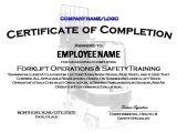 Forklift Operator Certificate Template forklift Certificate Template Invitation Template