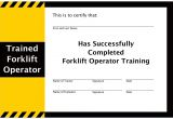 Forklift Operator Certificate Template forklift Training Program Guide forklift Training Whiz