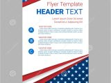 Free American Flag Flyer Template Usa Patriotic Background Vector Illustration with Text