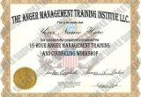 Free Anger Management Certificate Of Completion Template Anger Management 16 Hour 24 Lesson Anger Management Class