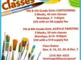 Free Art Class Flyer Template Art Classes Temima Goldbaum