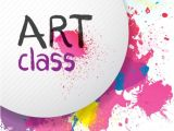 Free Art Class Flyer Template Colorful Paint Splats Flyer Background Vector Free Download