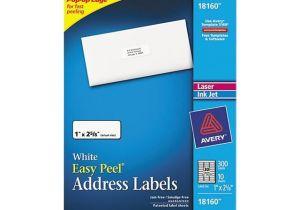 Free Avery 18160 Label Template Avery 18160 Inkjet Address Labels 1 X 2 5 8 White 300