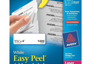 Free Avery Templates 5162 1 Pck New Avery 5162 White Address Labels 1 400 Laser