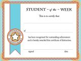 Free Award Certificate Templates for Students Free Printable Student Of the Week Certificate Back to
