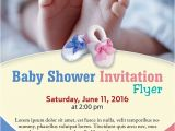 Free Baby Shower Flyer Template Baby Shower Flyer Template Photoshop Version Free