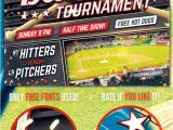Free Baseball tournament Flyer Template Baseball tournament Flyer Template by Stormdesigns