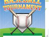 Free Baseball tournament Flyer Template Baseball tournament Illustration Stock Vector