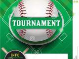 Free Baseball tournament Flyer Template Baseball tournament Template Illustration Stock Vector