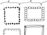 Free Beautiful Card Border Designs 8 Hand Drawn Frames to Doodle Bullet Journal Frames