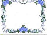 Free Beautiful Card Border Designs Wedding Invitation Blue Roses Border Stock Image Image
