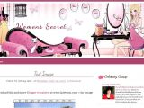Free Beauty Blog Templates Blogger Template Women 39 S Secret Ipietoon Cute Blog Design