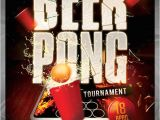 Free Beer Pong Flyer Template 16 tournament Flyers Psd Word Ai Vector Eps Free