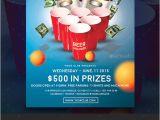 Free Beer Pong Flyer Template Beer Pong event Flyer by Vorsa Graphicriver