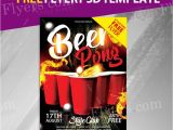 Free Beer Pong Flyer Template Beer Pong Free Flyer Psd Template Freebiedesign Net