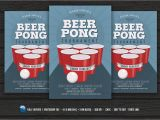 Free Beer Pong Flyer Template Beer Pong Party Flyer Flyer Templates Creative Market