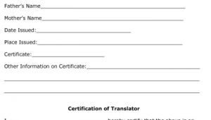Free Birth Certificate Translation Template From English to Spanish Birth Certificate Translation Template Spanish to English